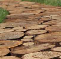 Дорожки из пеньков на даче. Дорожки из деревянных спилов