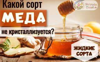 Какой сорт меда не засахаривается. Почему мед не засахаривается?